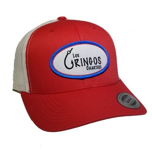 red fishing hat