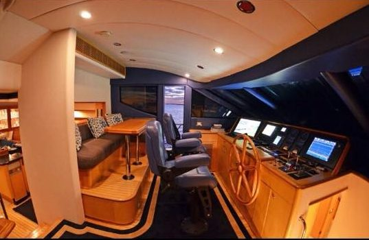 interior of luxury fishing boat