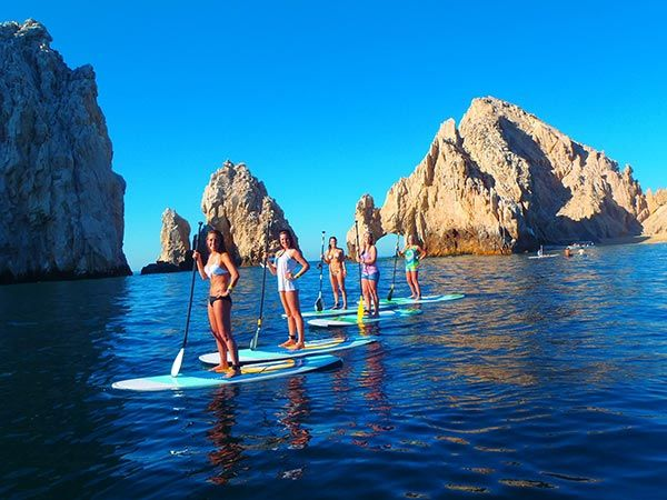 paddle boarding in cabo san lucas