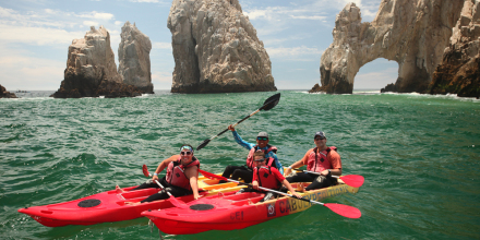 fishing from kayaks in Cabo