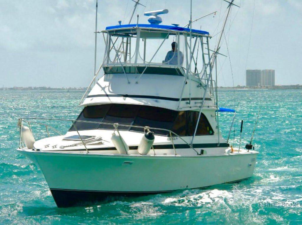 multi level fishing boat in open waters